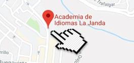 Location map for La Janda - Academia de Idiomas